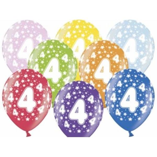 Balón číslo 4 metalický mix farieb, 35cm, 1ks