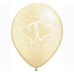 Balón dve srdcia slonová kosť, 28cm, 1ks