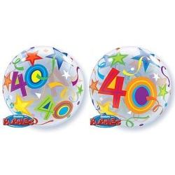 Balón fóliový 40. narodeniny, 55cm