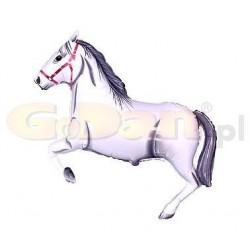 Balón fóliový cválajúci koník biely, 35cm