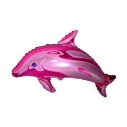 Balón fóliový Delfín ružový, 35cm