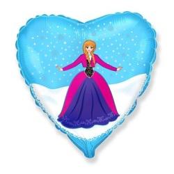 Balón fóliový Frozen Anna, 45cm