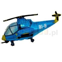 Balón fóliový helikoptéra modrá, 35cm