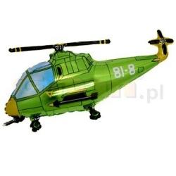 Balón fóliový helikoptéra zelená, 35cm