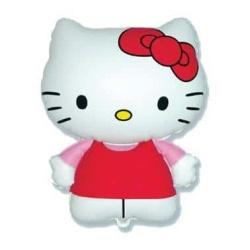 Balón fóliový Hello Kitty s červenou mašľou, 35cm