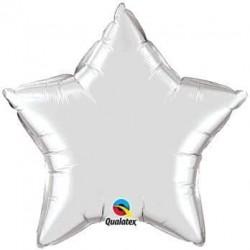 Balón fóliový hviezda strieborná