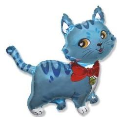 Balón fóliový mačička modrá, 35cm