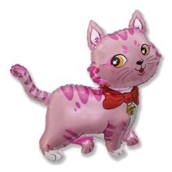 Balón fóliový mačička ružová, 35cm