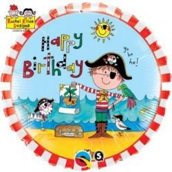Balón fóliový Malý pirát Happy Birthday, 45cm