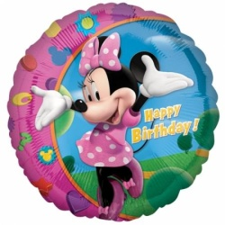 Balón fóliový Minnie Mouse Happy Birthday, 45cm
