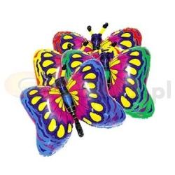 Balón fóliový motýľ modrý, 35cm, 1ks