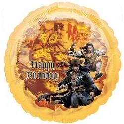 Balón fóliový Piráti Happy Birthday, 45cm