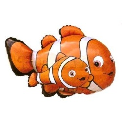 Balón fóliový rybky Klaun, 35cm