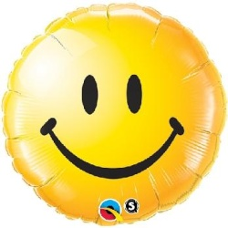 Balón fóliový Smajlík, 45cm