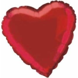 Balón fóliový Srdce červené, 10cm