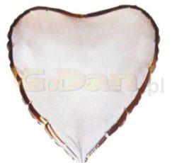 Balón fóliový Srdce strieborné, 45cm