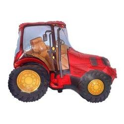 Balón fóliový traktor červeny, 35cm