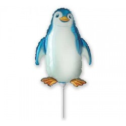 Balón fóliový tučniak modrý, 35cm
