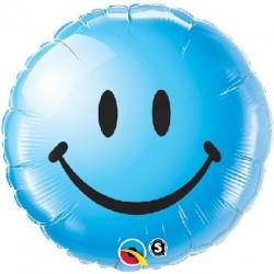Balón fóliový úsmev modrý, 45cm