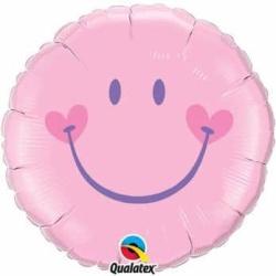 Balón fóliový Úsmev ružový, 45cm