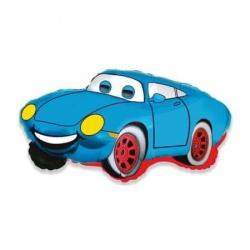 Balón fóliový Usmiatie auto modrý, 35cm