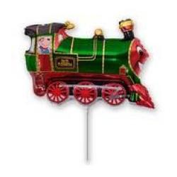 Balón fóliový vlak zelený, 35cm