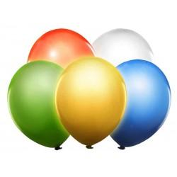 Balón LED svietiaci 30cm, mix farieb, 5ks