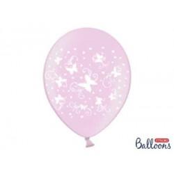Balón motýle ružové, 30cm, 1ks