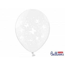 Balón motýle transparentné, 30cm, 1ks
