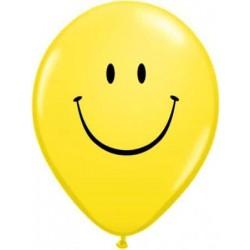 Balón Smajlík žltý, 13cm, 1ks