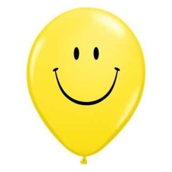 Balón Smajlík žltý, 30cm, 1ks