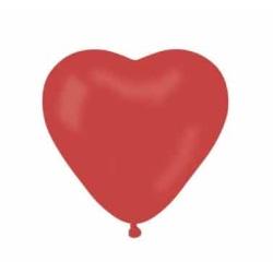 Balón srdce červené, 15cm, 1ks
