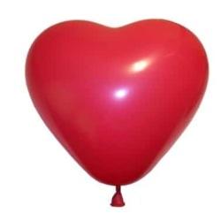 Balón srdce červené, 25cm, 1ks