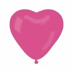 Balón srdce ružové, 25cm, 1ks