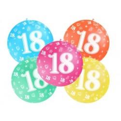 Balón veľký rôzne farby 18. narodeniny, 100cm
