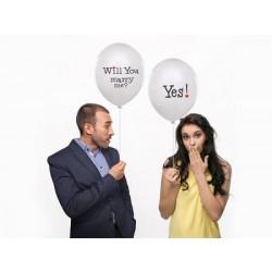 Balón WILL YOU MARRY ME? YES, 35cm, 1ks