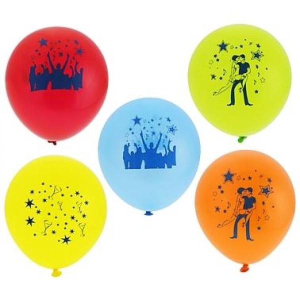 Balón zostava disko, 30cm, 5ks