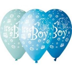 Balóny Its a boy, 30cm, 5ks