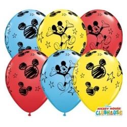 Balóny Mickey Mouse, mix farieb, 27cm, 1ks