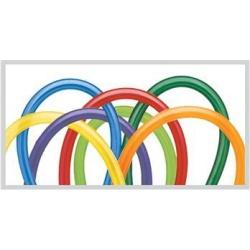 Balóny modelovacie pastelové, farebný mix,  160cm, 100ks