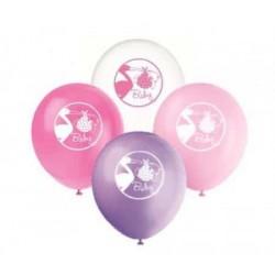 Balóny s potlačou Baby Girl mix farieb, 30cm, 8ks