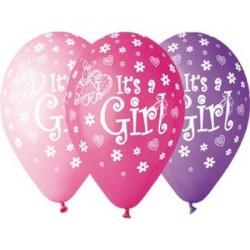 Balóny s potlačou Its a Grils mix farieb, 23cm, 10ks