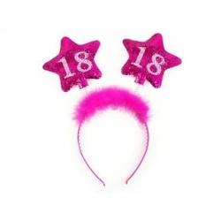 Čelenka 18. narodeniny ružové, 1ks