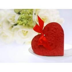 Darčeková krabička Srdce červené, 10x9x3cm, 1ks