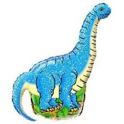 Fóliový balón Dinosaurus modrý, 35cm