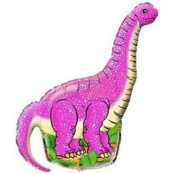 Fóliový balón Dinosaurus ružový, 35cm