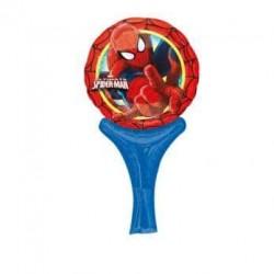 Fóliový balón Spiderman s rúčkou, 35cm