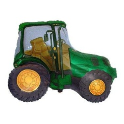 Fóliový balón traktor zelený, 35cm