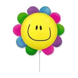Fóliový balón Usmiaty kvet, 30cm
