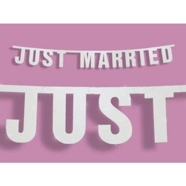 Girlanda JUST MARRIED, 16x170cm, 1ks